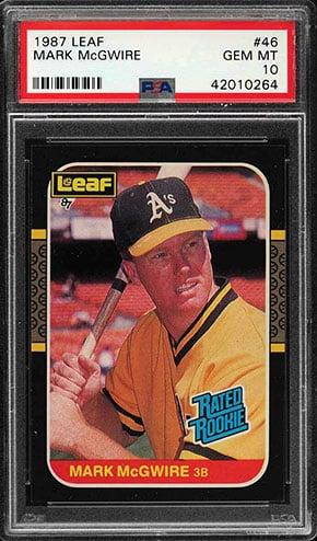 Top 15 Mark Mcgwire Baseball Card List 1984 Rookie Card Value