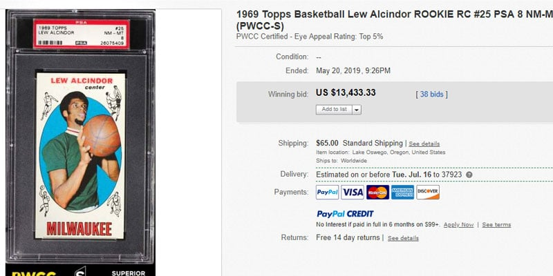 Top 25 Most Valuable Basketball Cards Sold On Ebay Summer 2019