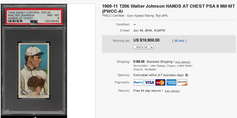Top 25 Most Valuable Baseball Cards Sold In Summer 2019